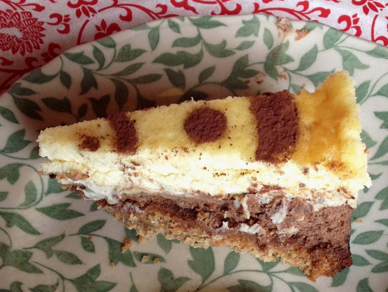 Tarta de queso tricolor
