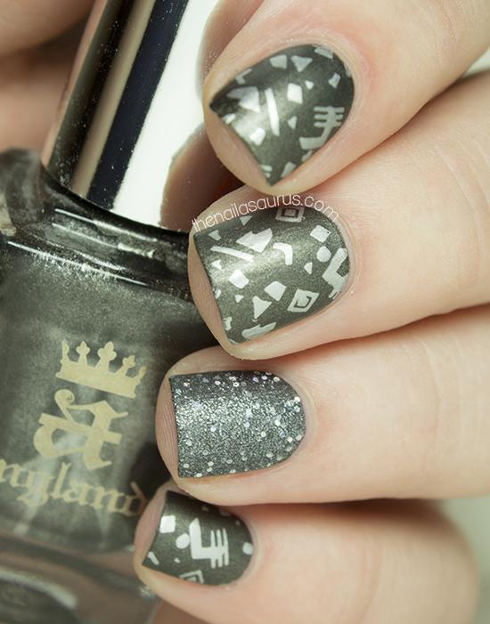 Snippet: Matte Metal Stamping - The Nailasaurus | UK Nail Art Blog