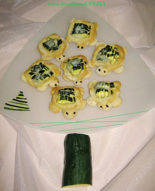 Tartarughine alle zucchine senza lievito