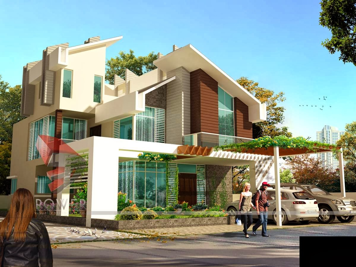 Ultra modern home designs home designs house 3d for Home exterior design images