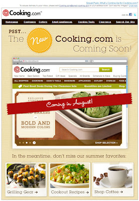 July 22, 2012 Cooking.com email