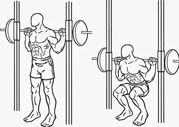 how to squat on smith machine