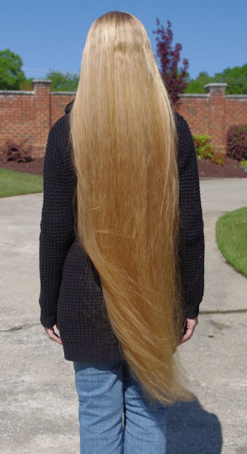 Braids & Hairstyles for Super Long Hair: Blonde Knee-Length Hair ...