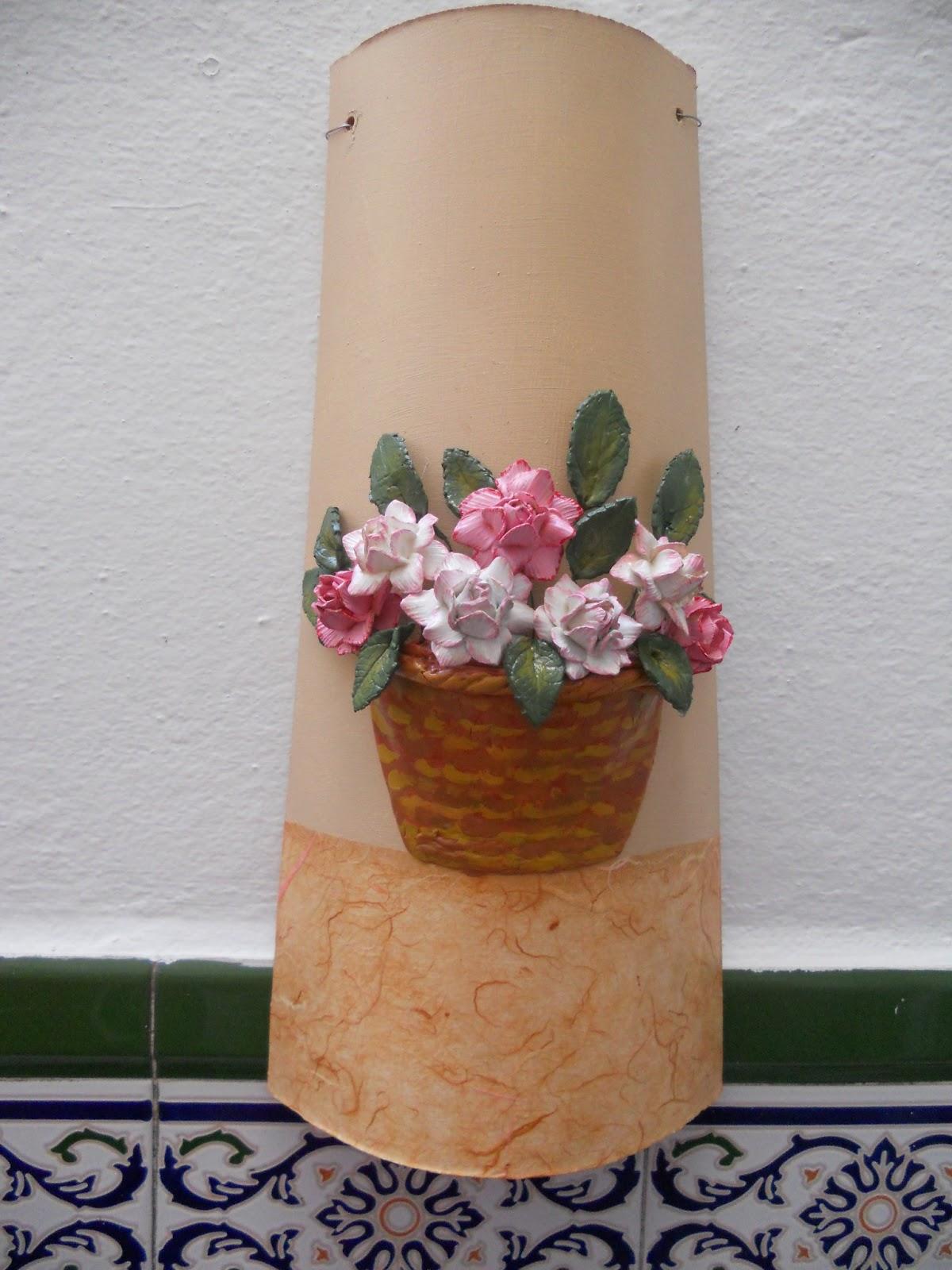 El escaparate de violeta manualidades t cnicas - Tejas pequenas decoradas ...