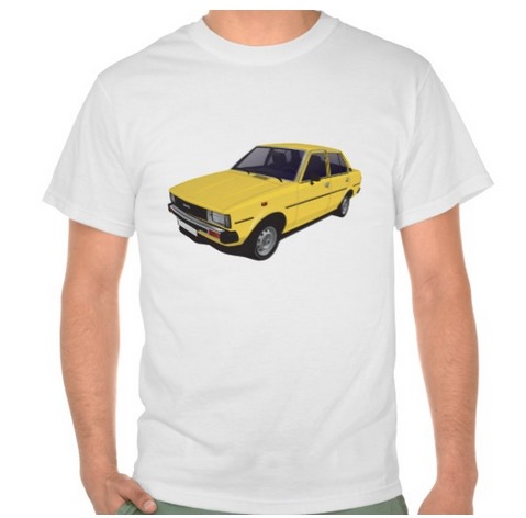 Toyota Corolla DX E70 tshirts tpaidat