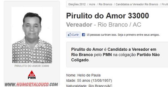 Candidatos Bizarros das eleições 2012 [Parte 03] - Piurulito do Amor 33000