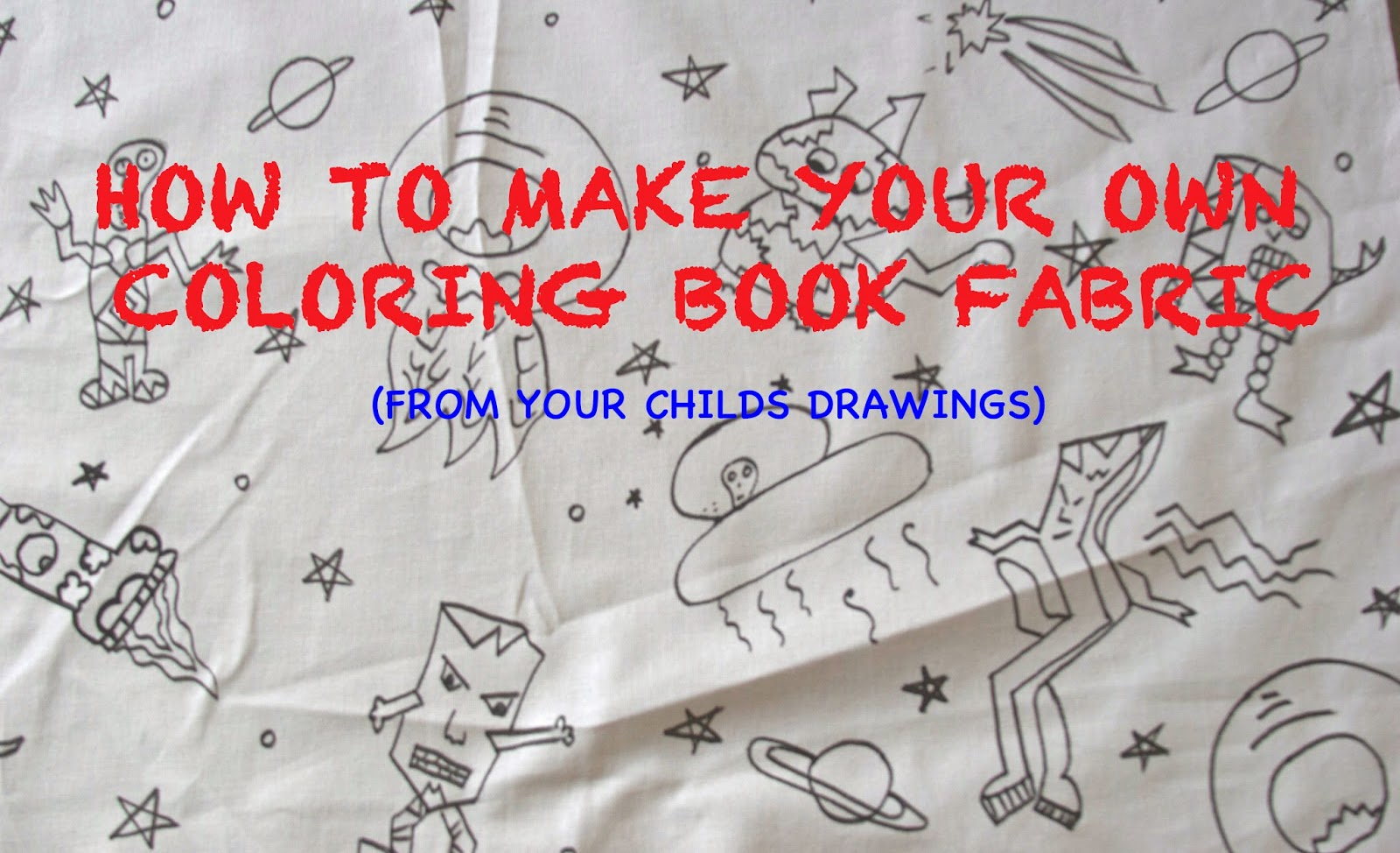 Children S Fabric Book Cover : Two bees and a belle make your own coloring book fabric