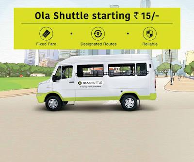 Ola Shuttle in Bangalore and Delhi