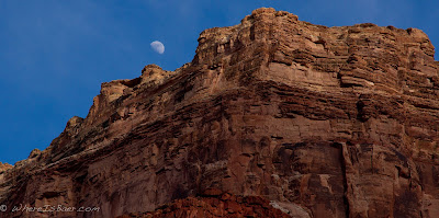 we got to observe a full lunar cycle, Grand Canyon of the Colorado, Chris Baer