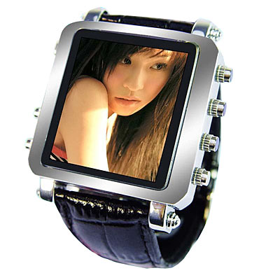 Fascinating Gadgets: Metallic Video Watch with OLED Screen
