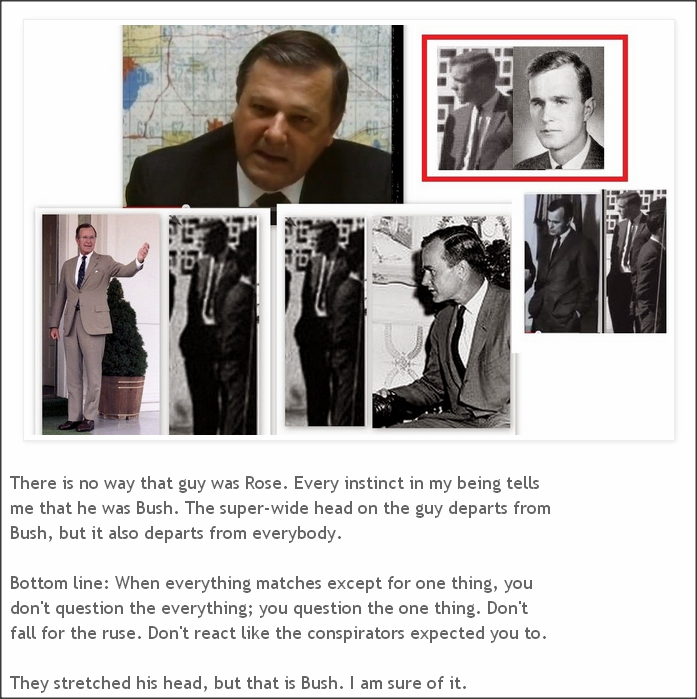 No amount of bogus comparisons will confirm Ralph Cinque's claim that George Bush was present in Dealy Plaza!