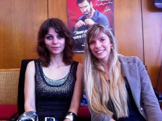 La vice-championne de France d'échecs 2011 Nino Maisuradze en compagnie d'Anémone Kulczak, arbitre principale du Festival de Dieppe © Chess & Strategy