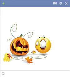 Spooky pumpkin emoticon
