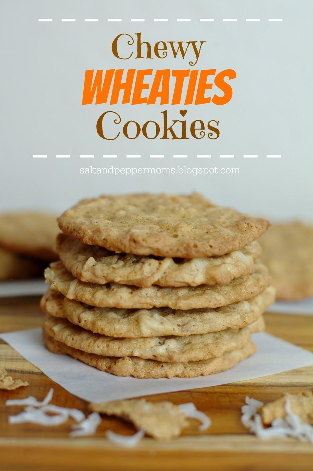 Salt and Pepper Moms: Chewy Wheaties Cookies