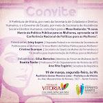 Mesa Redonda – A Nova Matriz da Política Pública para as Mulheres – 19/03/2012 - Vitória - ES
