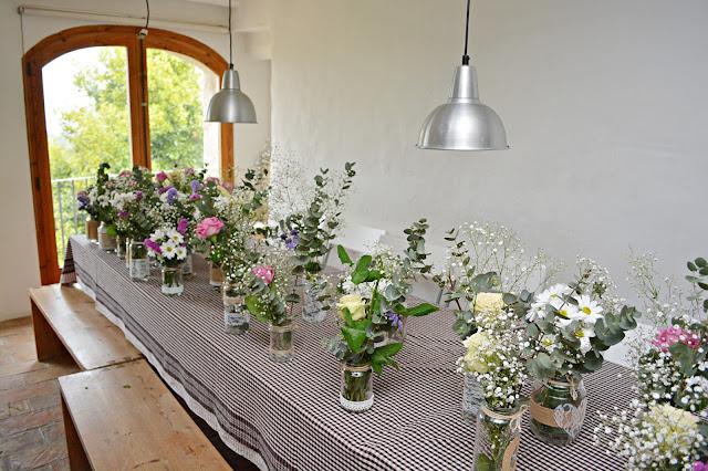 decoración boda flores