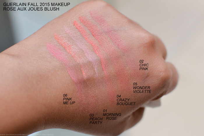 Guerlain Rose Aux Joues Blush - Swatches - Bloom of Rose Fall 2015 ...