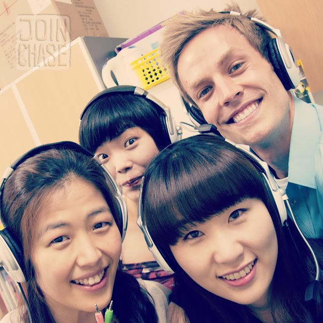 Having fun with Korean co-teachers in South Korea.