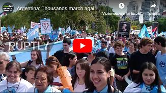 Aproximativ două milioane de argentinieni au participat la Marșul pentru viață