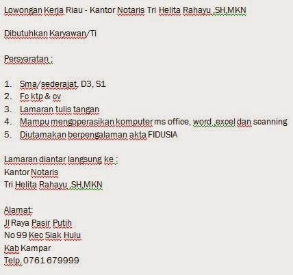 Kantor Notaris Tri Helita Rahayu ,SH,MKN