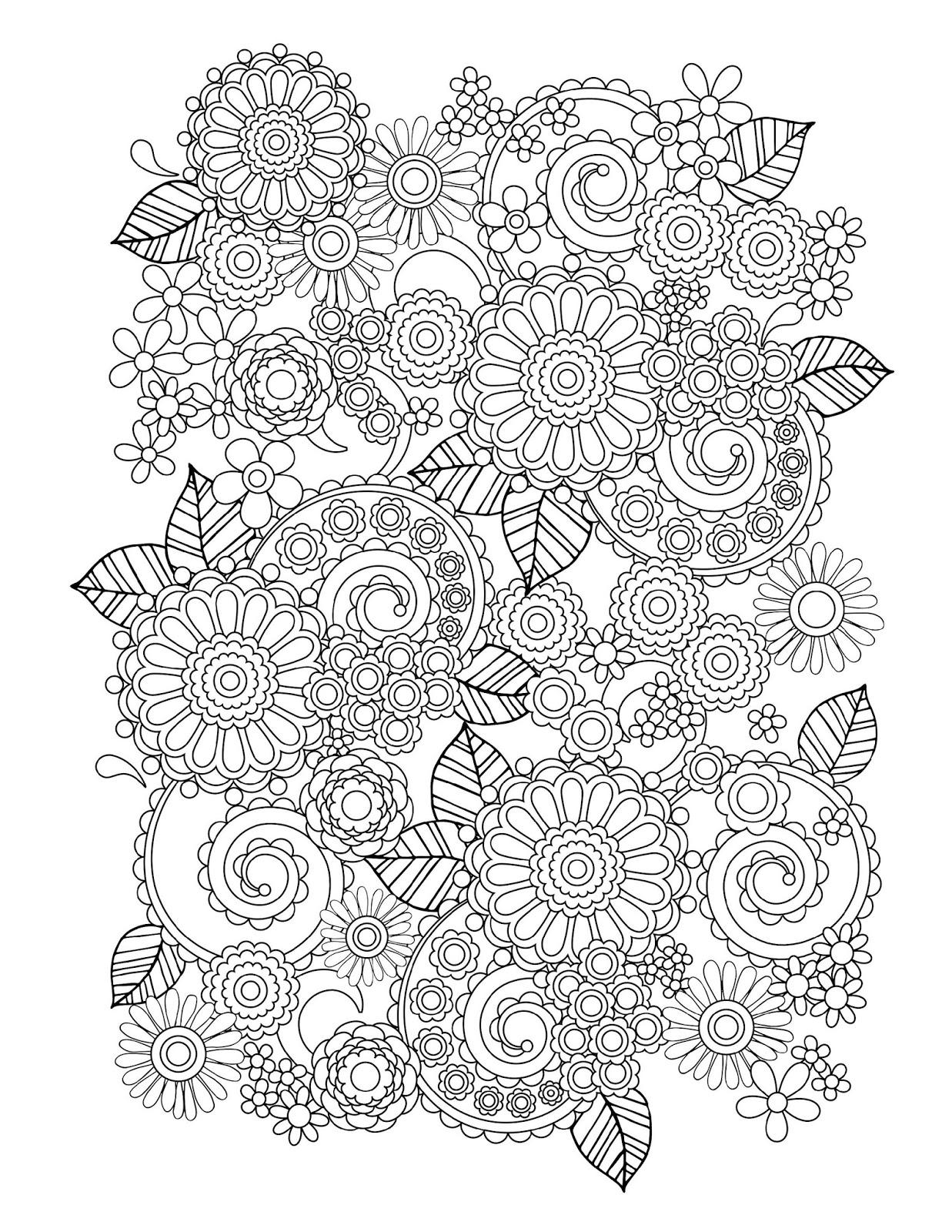 Gambar Mewarnai Bunga untuk Orang Dewasa
