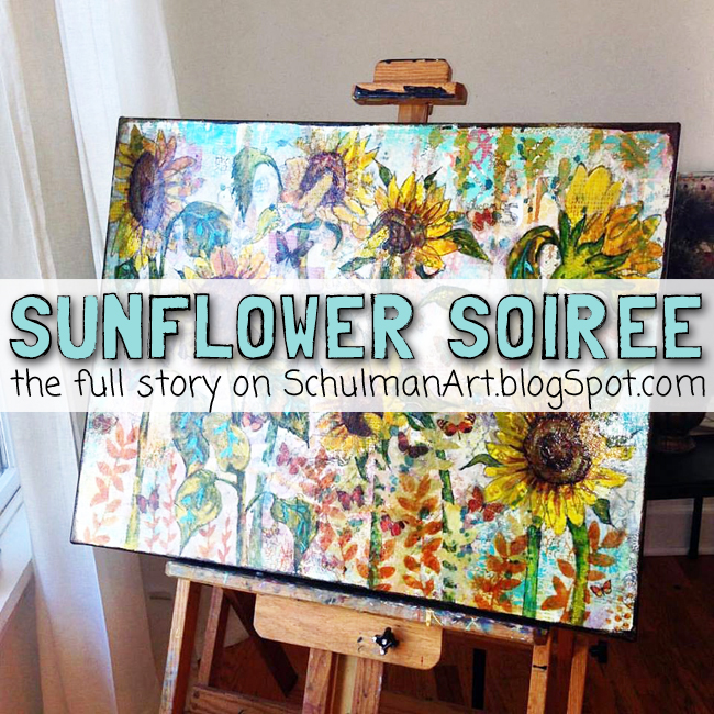 collective creativity for the sunflower painting title on http://schulmanart.blogspot.com/2015/11/collective-creativity.html