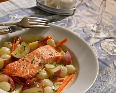 Roasted Salmon With Pernod Sauce