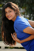 Sneha Tagore Photo shoot in Blue-thumbnail-1
