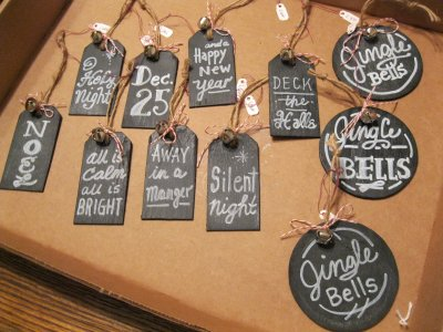 Mini Chalkboards with Christmas Carols 1