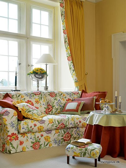 So glittering shabby chic floral for Red and cream curtains for living room