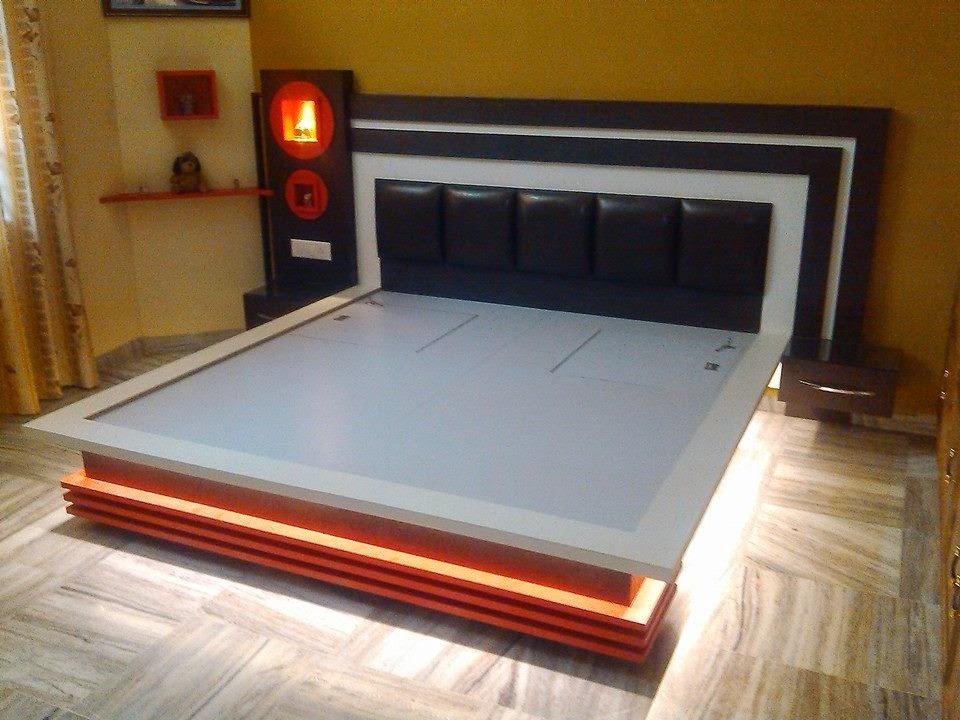 K K WOOD DESIGN NAMOL, SANGRUR : MODREN WOOD BED DESIGN ...