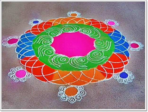 Latest rangoli design for diwali deepawali for Door design rangoli