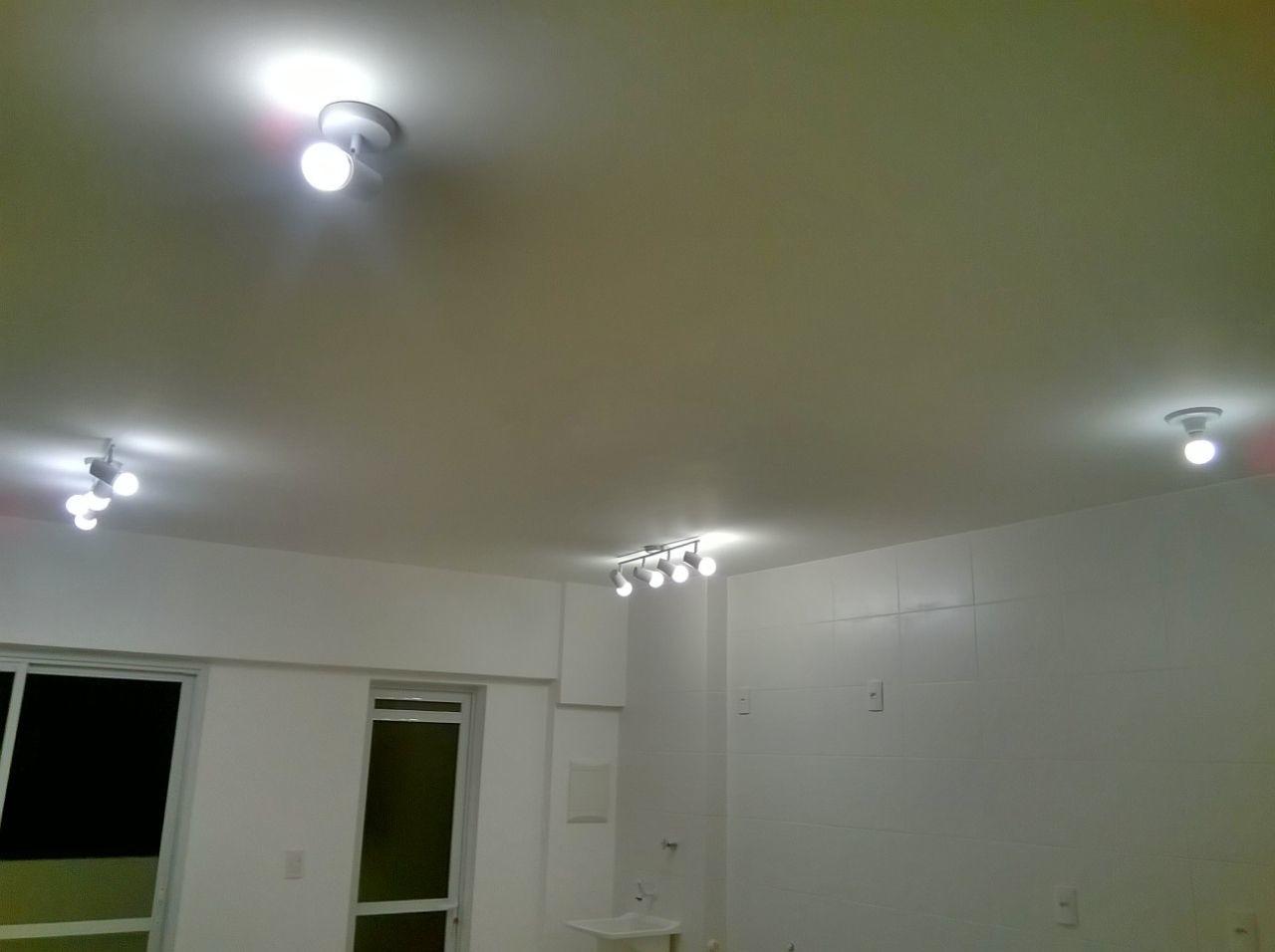 Iluminao Teto Gesso Sala Teto Rebaixado Com Gesso E Iluminao  -> Luminaria De Gesso Para Sala