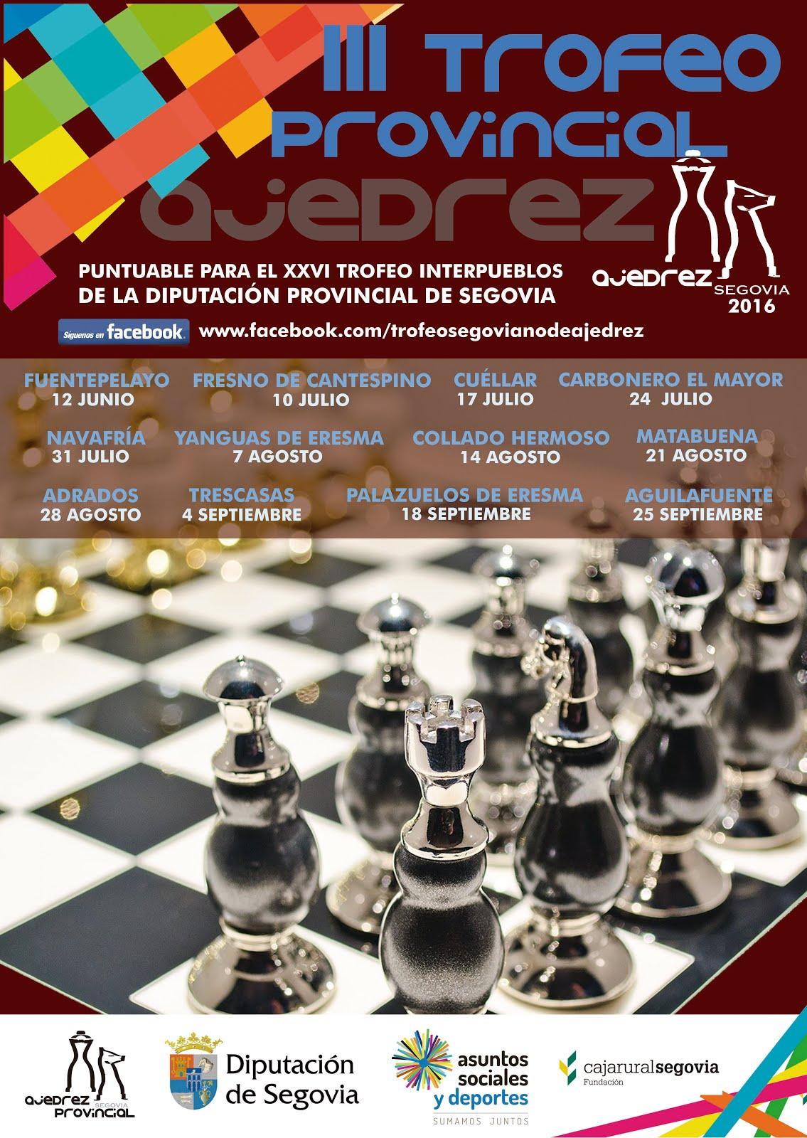 Trofeo Provincial de Ajedrez - Segovia 2016