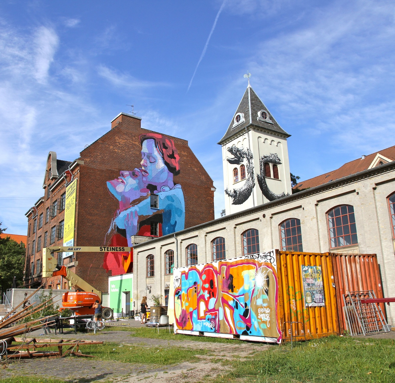 aryz new mural in progress copenhagen denmark streetartnews streetartnews. Black Bedroom Furniture Sets. Home Design Ideas