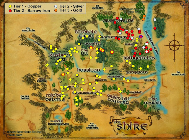 Ore In Lotro And Where To Find It - Ore map