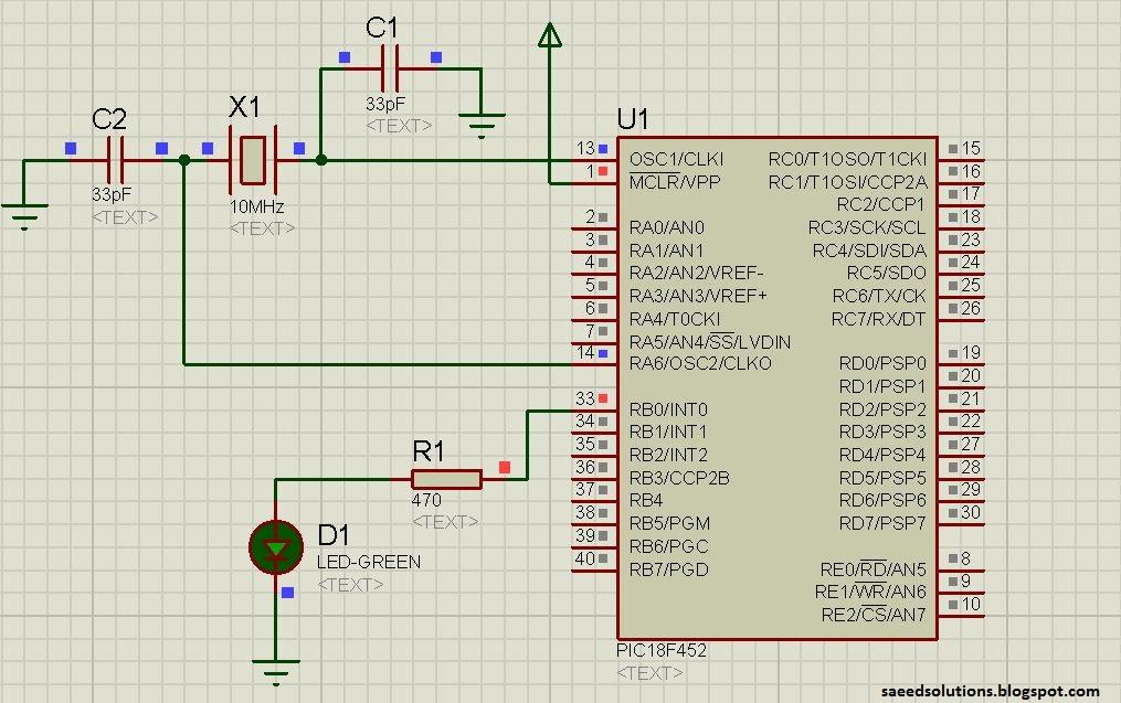 pic18f452 led blinking code proteus simulation saeed s blog rh saeedsolutions blogspot com