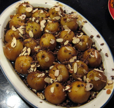 pears in coffee syrup