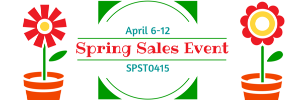 Shop the SPS Team's Spring Sales Event on Etsy April 6-12, 2015