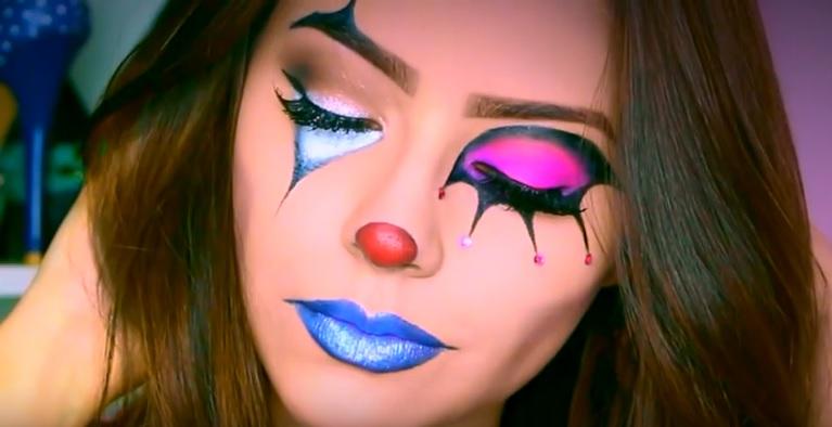 maquillaje payaso mujer