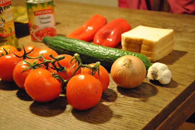Zutaten für Gazpacho