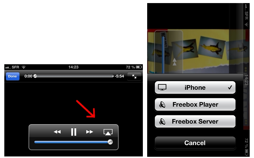 bug Usb connecté avec Iphone Airplay_free