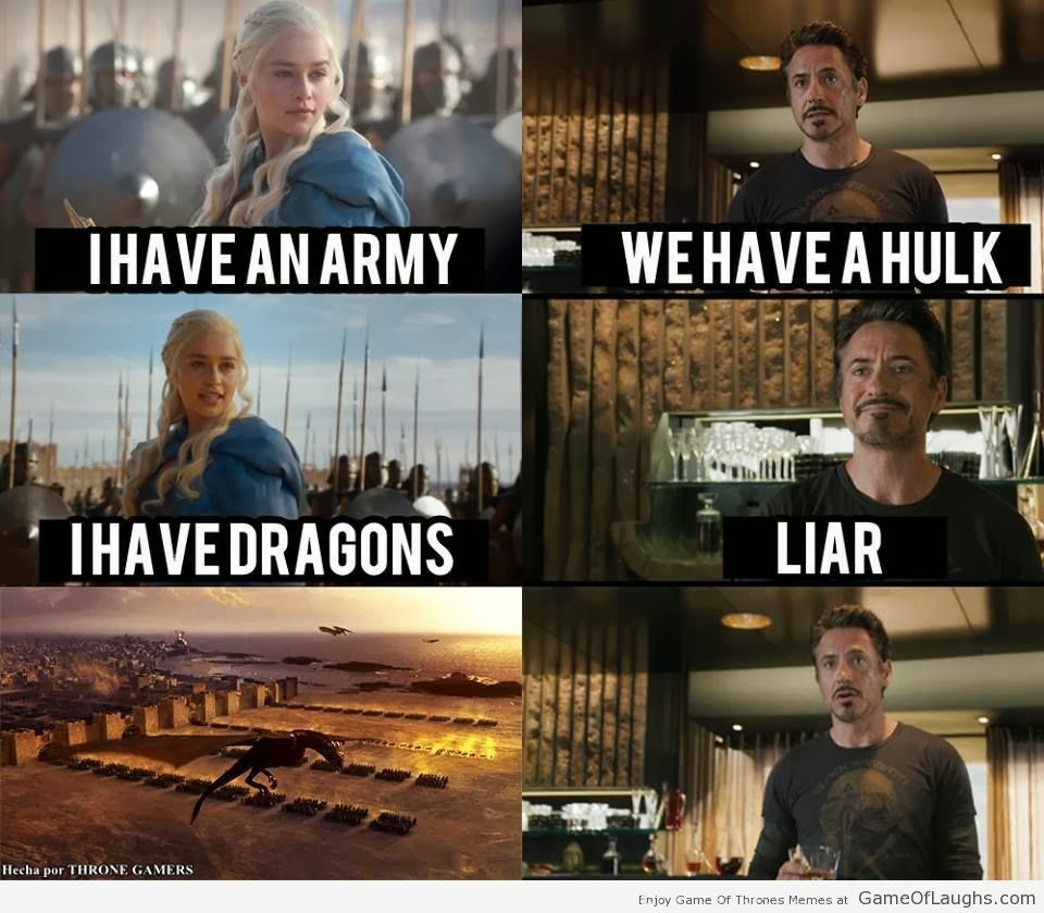 tony stark khaleesi game of thrones memes