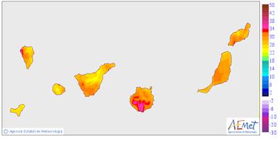 alerta naranja calor Gran Canaria 14 mayo