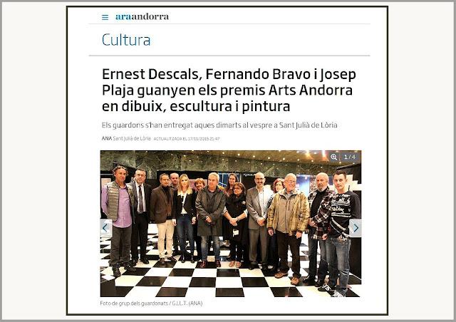 ARTS-ANDORRA-CARTELL-PREMIS-NOTICIES-ART-CULTURA-2O15-SANT JULIÀ DE LÒIRA-PREMI-DIBUIX-ARTISTA-PINTOR-ERNEST DESCALS