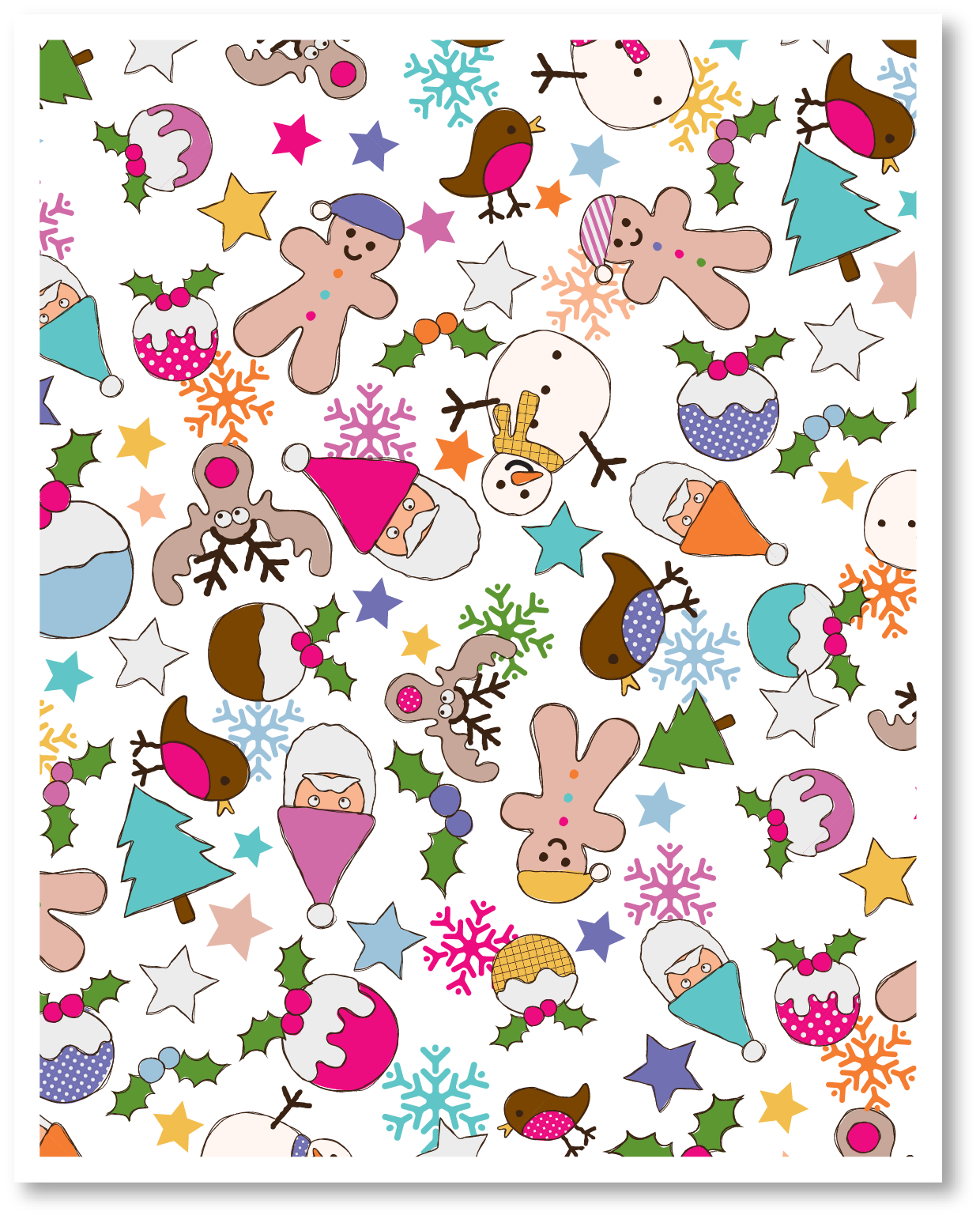 This is a photo of Geeky Christmas Printable Paper
