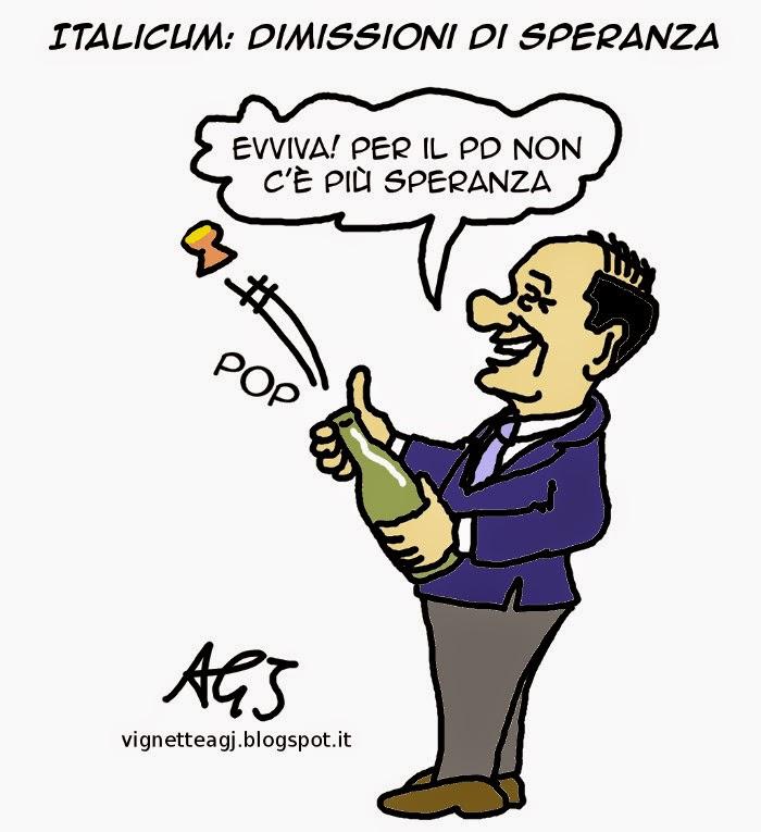minoranza PD, Speranza, Italicum, satira, vignetta