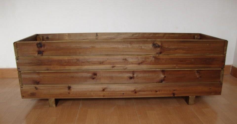 Jardineras de madera tratada para exterior - Jardineras de exterior ...