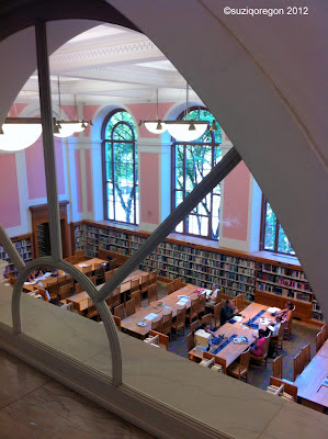 Multnomah County Library Central Branch landing between 2nd and 3rd floors