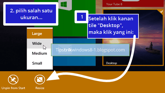 Cara Mengubah Ukuran Tile pada Start Screen Windows 8.1